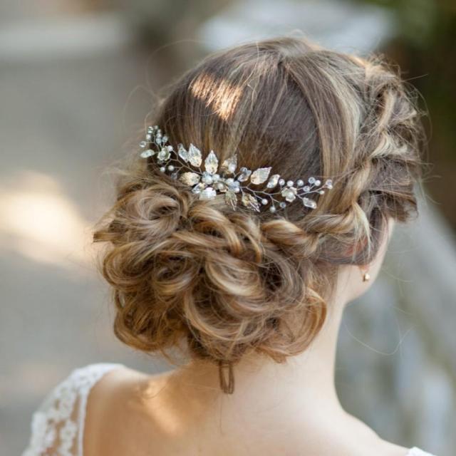 bridal hair comb wedding hair comb leaves bridal hair comb