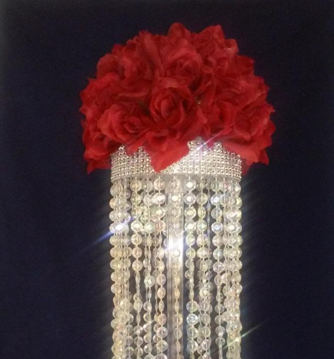 Crystal Chandelier Table Centerpiece Limited Time Only Wedding Fl Candles Party Favor Centerpieces Affordable