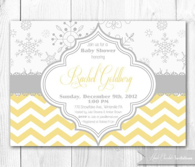 yellow and gray baby shower invitations – gangcraft, Baby shower invitations