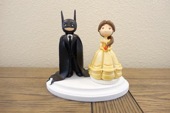 Belle Cake Topper Disney Wedding Cake Topper Batman Cake