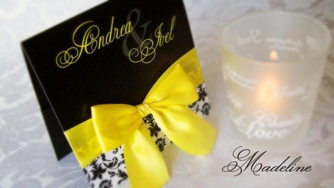 Wedding Invitation With Satin Bow