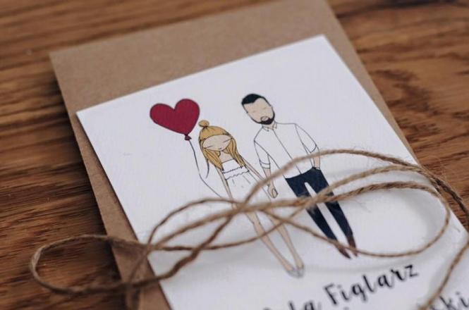 Custom Ilrated Quirky Wedding Invitations