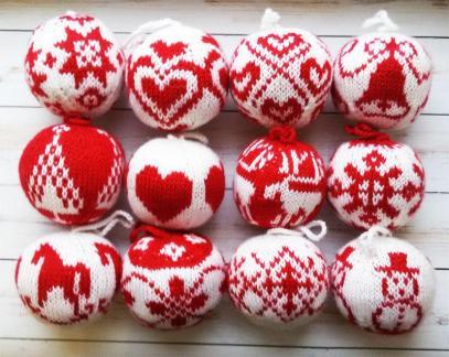 Resultado de imagem para knit ball xmas