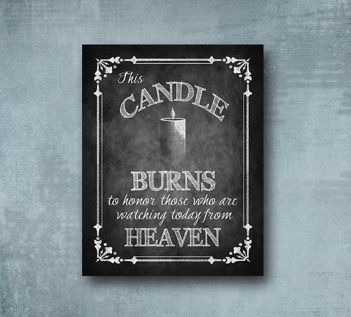 Download Wedding Memorial Candle Watching From Heaven Religious ...