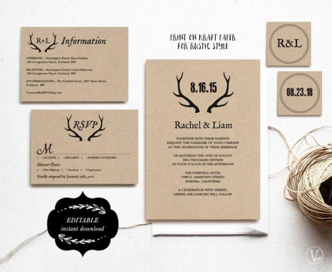 Printable Wedding Invitations Diy