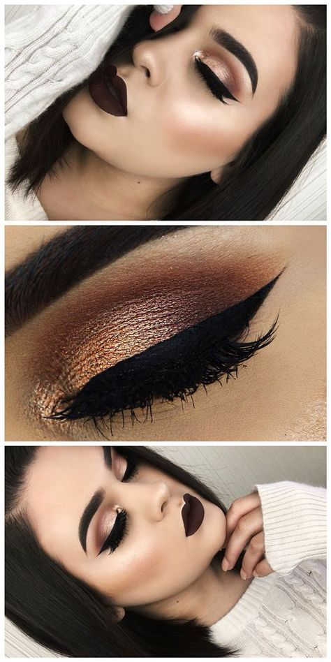 Makeup For Brown Eyes And White Dress
