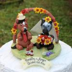 Horse Wedding Cake Topper With Flower Arch Country Rustic Wedding Horses Rider Cake Topper 2652243 Weddbook