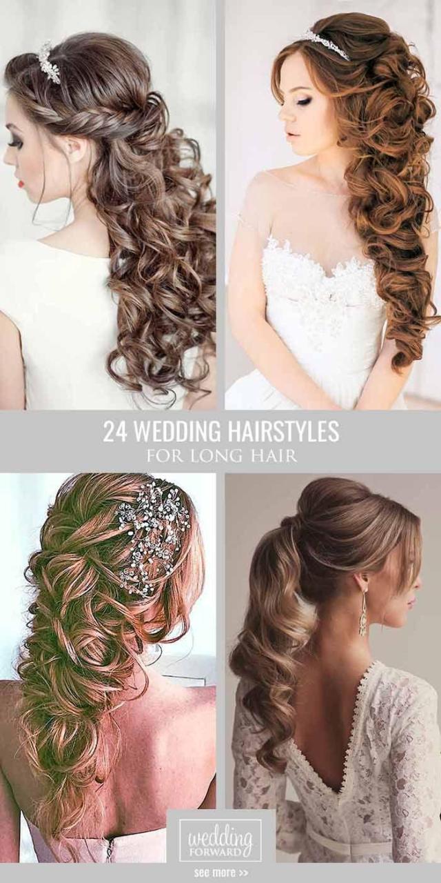 haar - 39 best wedding hairstyles for long hair #2662265
