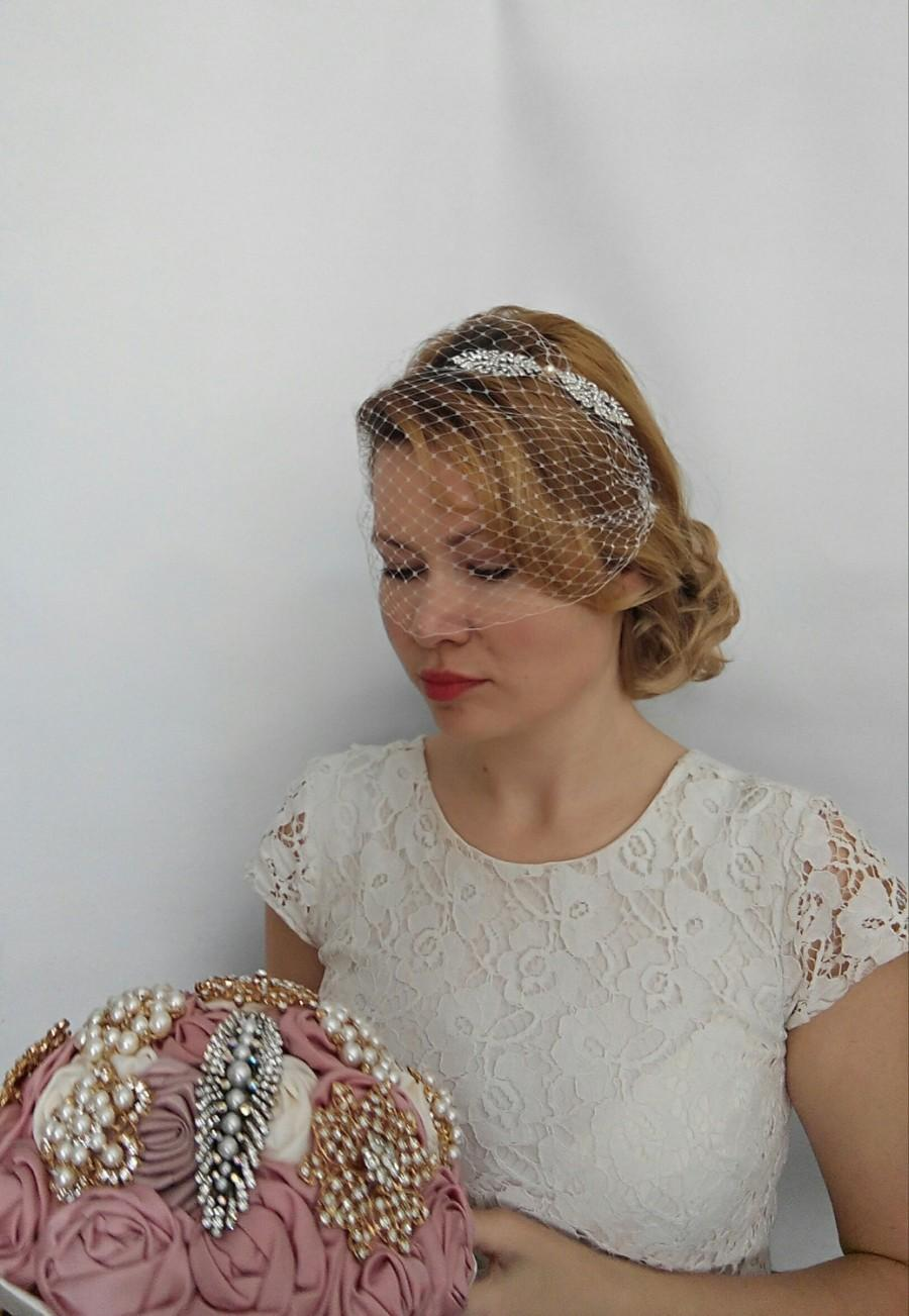 Birdcage Veil Headband Blusher Birdcage Veil Wedding