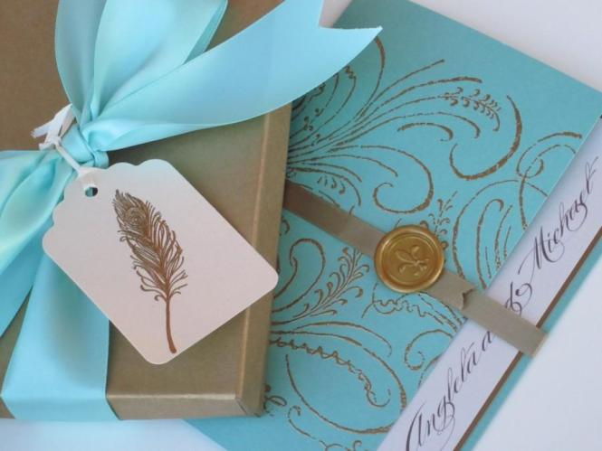 Boxed Luxury Wedding Invitation Marie Antoinette Inspired