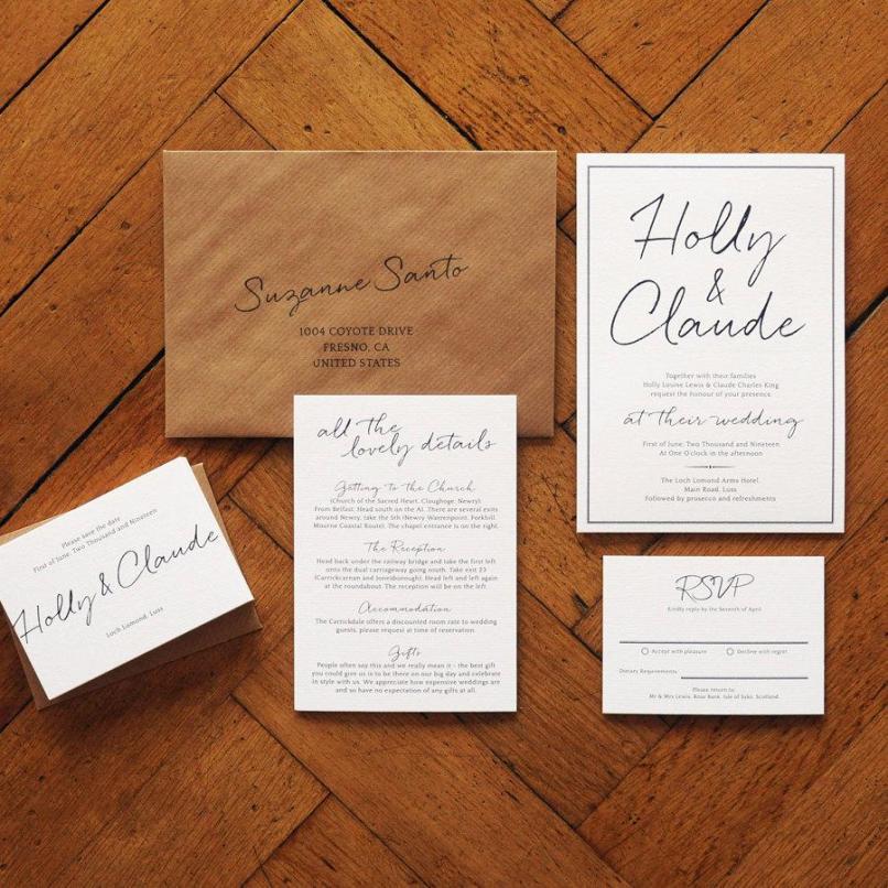 Modern Luxury Wedding Invitations Uk | Inviview.co