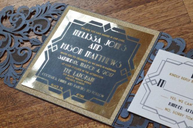 Gatsby Invitation Wedding