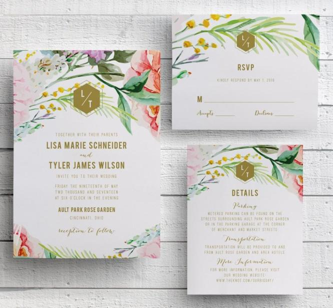 Garden Wedding Invitation Wording