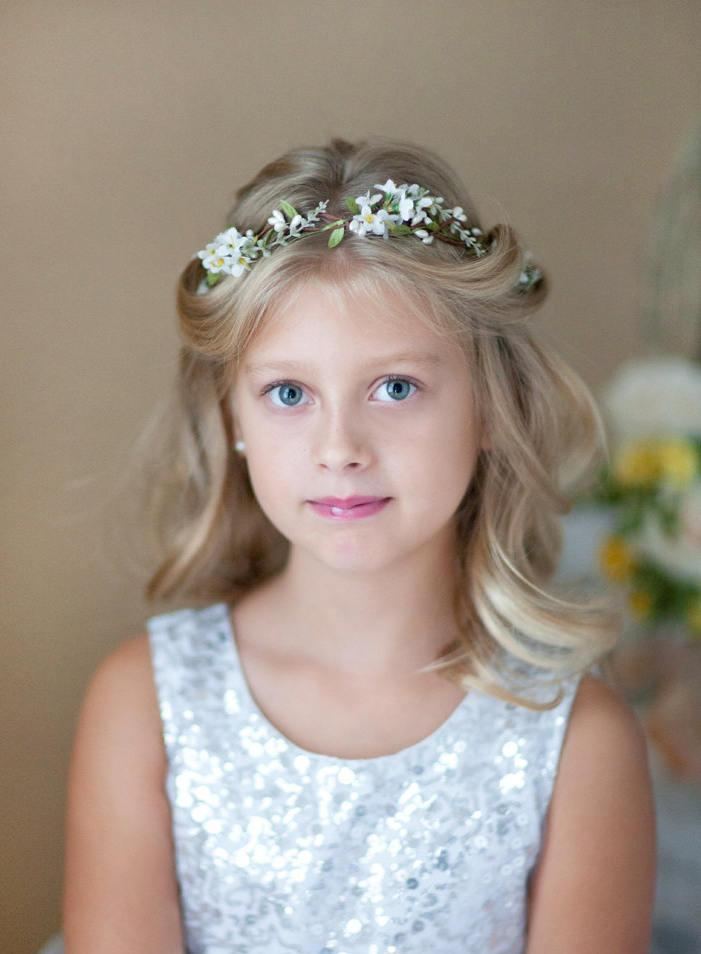 first communion hair accessories white flower crowns for girls first communion headpiece flower girl crown holy communion crown