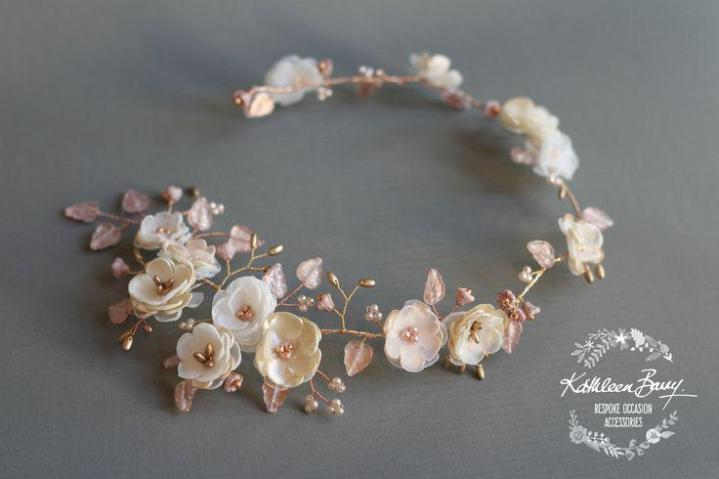 Rose Gold Wedding Bridal Hair Accessories Handmade   By Kathleen     Rose Gold Wedding Bridal Hair Accessories Handmade   By Kathleen Barry    Jewellery Jewelry