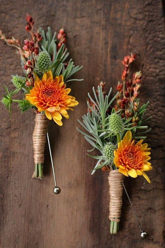 50 Fall Wedding Boutonnieres For Every Groom 2765940