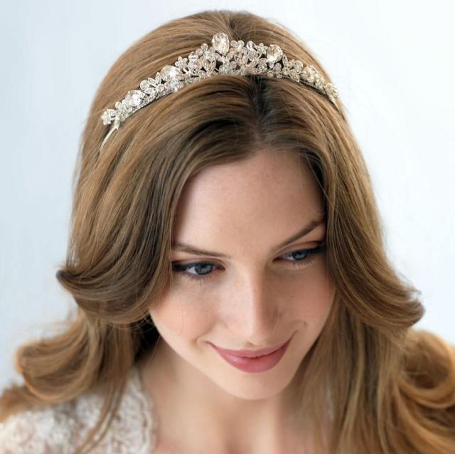 swarovski crystal tiara, vintage bridal tiara, bridal hair