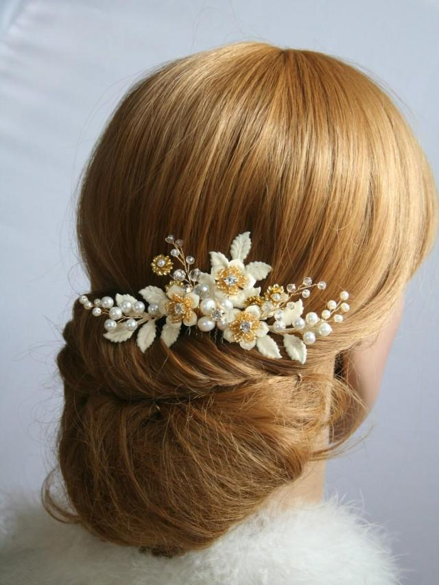 bridal hair comb ivory wedding hair comb bridal hair