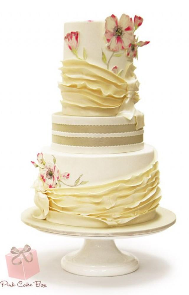 Save Vs Splurge Wedding Cake Spring Wedding Cakes