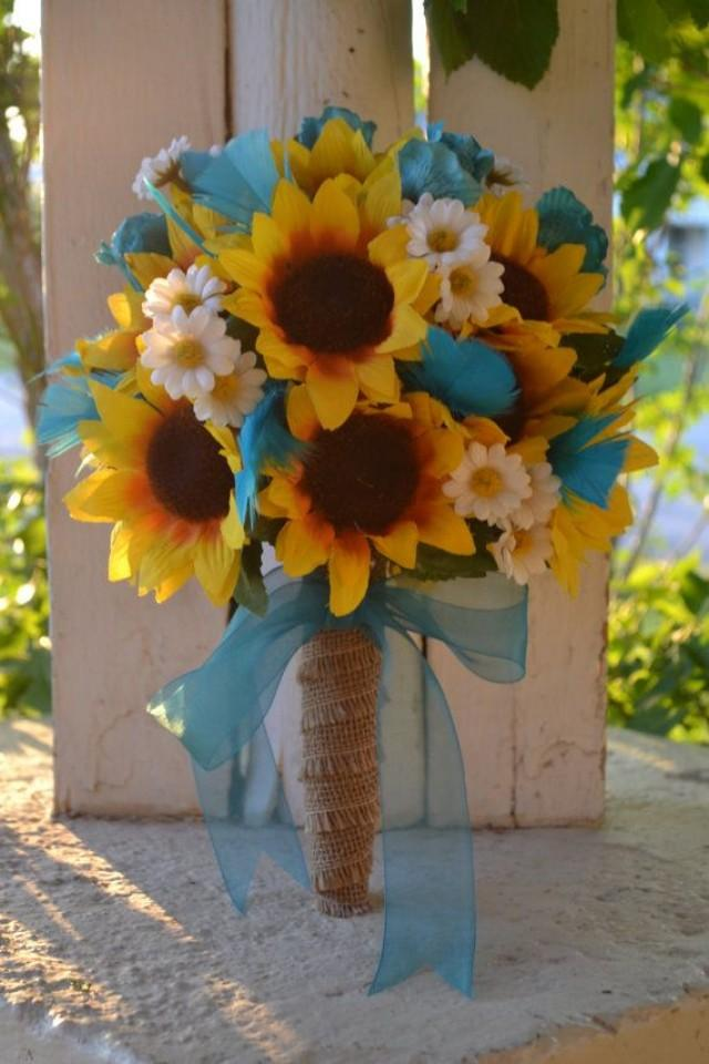 Rustic Sunflower Bouquet Country Southern Bride Bouquet