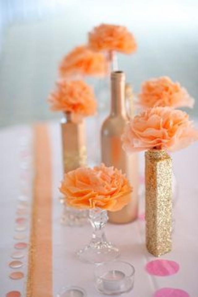 Weddings Peach Wedding Decorations Peach Wedding