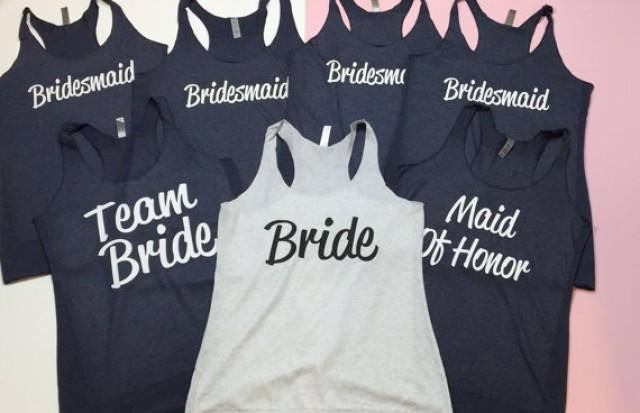 Bridesmaid Tanks 7. Bride Shirt. Bridesmaid Shirt. Team