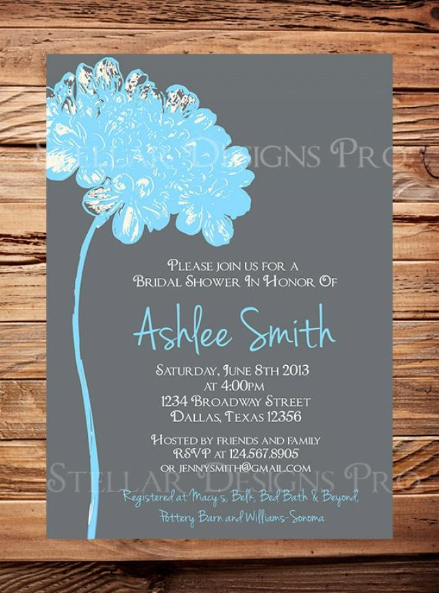 Bridal Shower InvitationFlower Bridal Or Wedding Shower