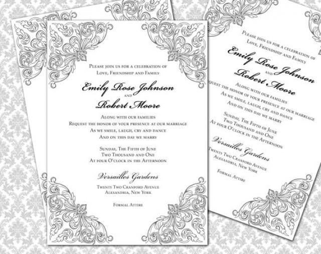 Printable Invitations 5x7