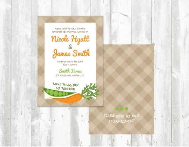 Peas Carrots Wedding Shower Invitations Printed Or