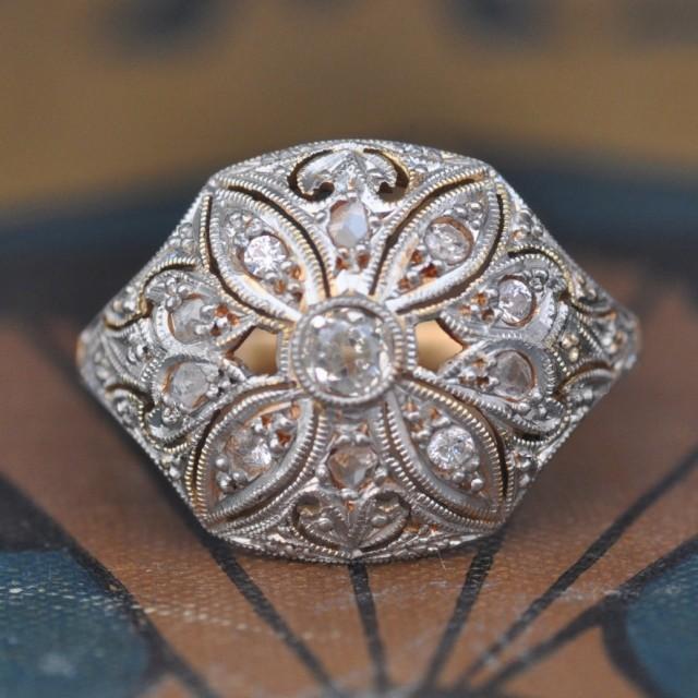Unique Engagement Ring Art Deco Engagement Ring 1920s