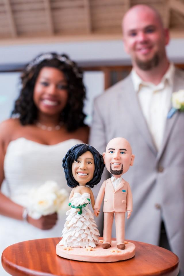 Beach Custom Wedding Cake Topper Bride And Groom Cake