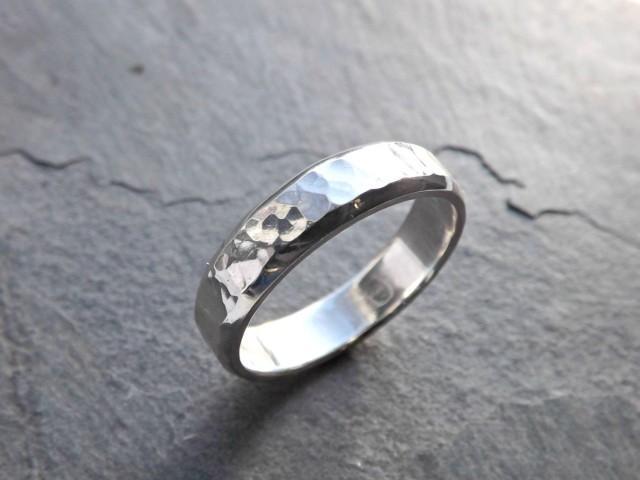 Mens Ring Silver Mens Wedding Band Men Engagement Ring