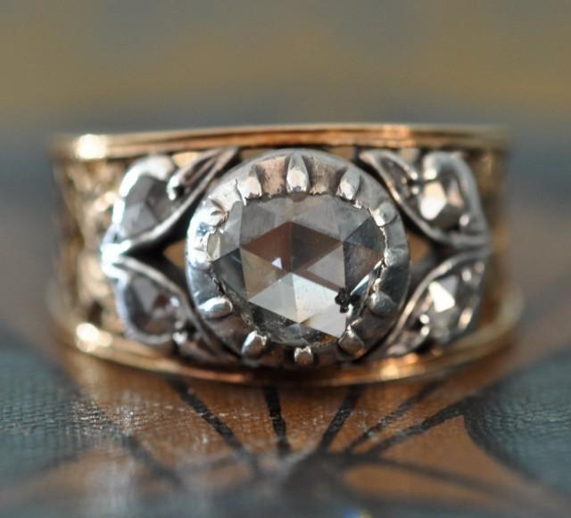Unique Engagement Ring Art Nouveau Engagement Ring 1800s