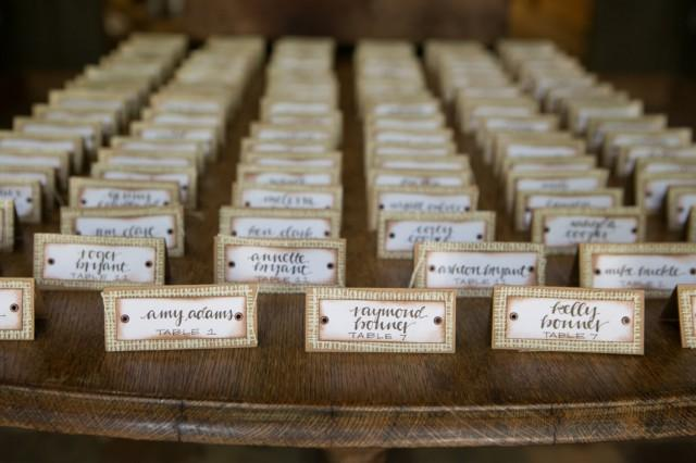 Rustic Place Cards Set Of 25 Burlap Wedding Wedding