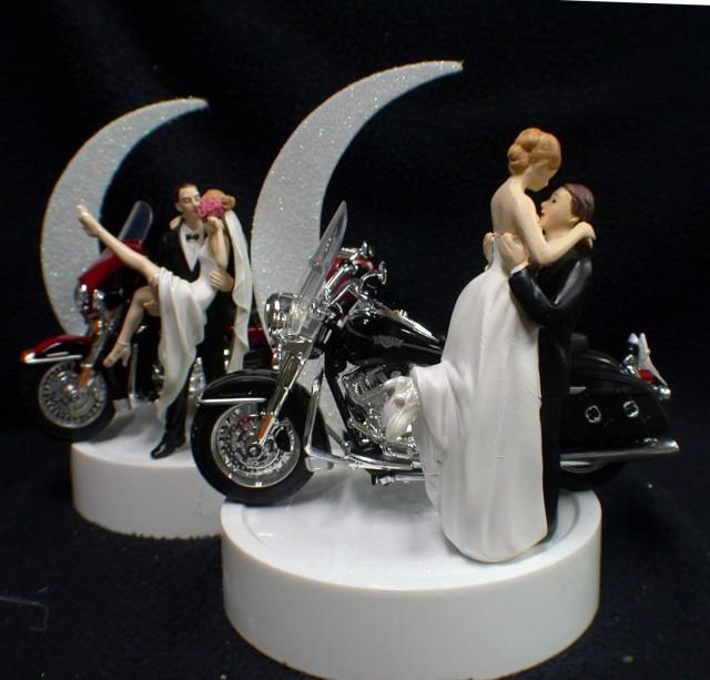 SEXY Or Romantic Wedding Cake Topper W Harley Davidson