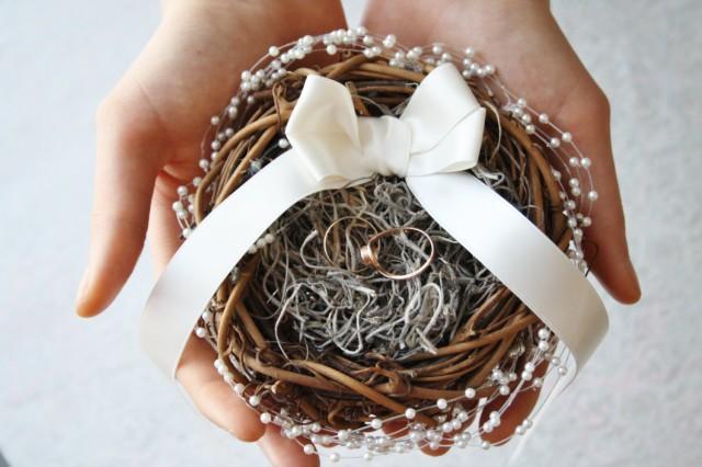 ring bearer pillow alternative rustic nest ring pillow ivory ring box rustic wedding ring bearer nest pillow woodland ring holder puck 2497723 weddbook