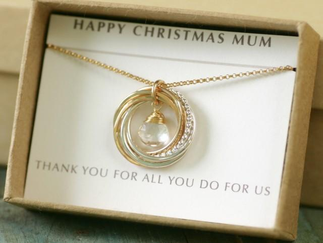 Gift For Mother Of The Groom Necklace, 6th Anniversary