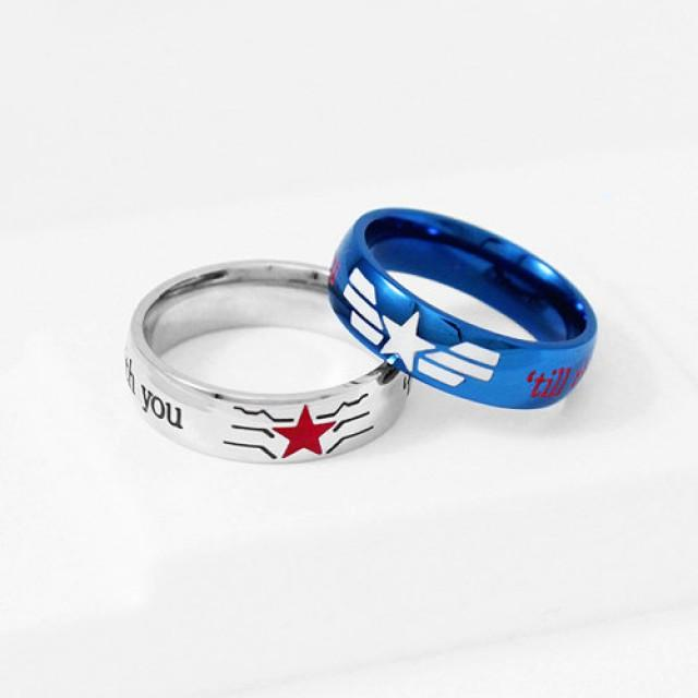 STUCKY Ring Winter Soldier Captain America Stainless Steel