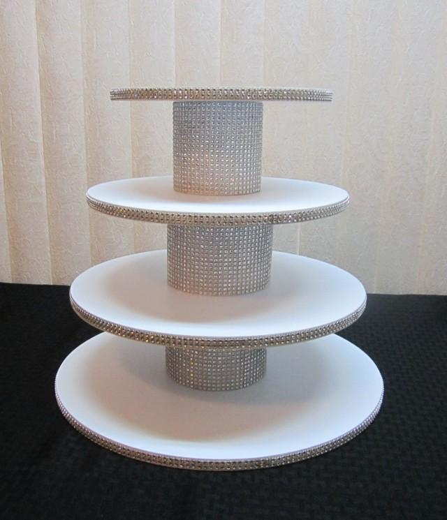 35 45 Cupcakes 4 Tier Round Or Square Cupcake Stand