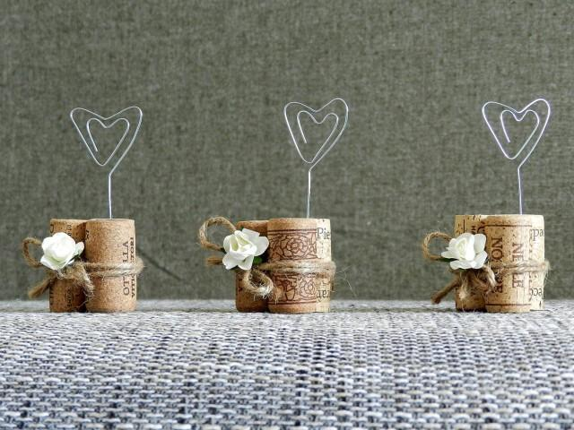 Place Card Holders, Wine Tasting Party Decor, Winery