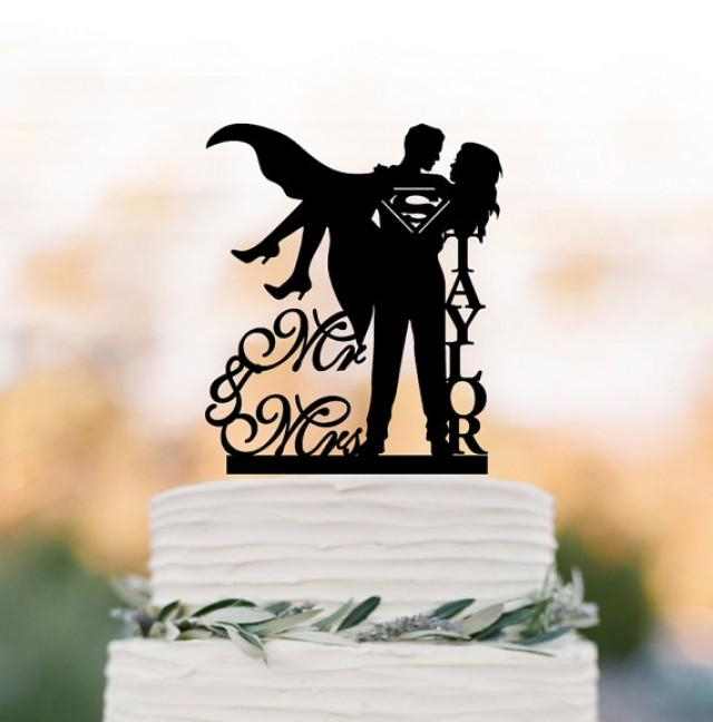Personalized Wedding Cake Topper Mr And Mrs Superman
