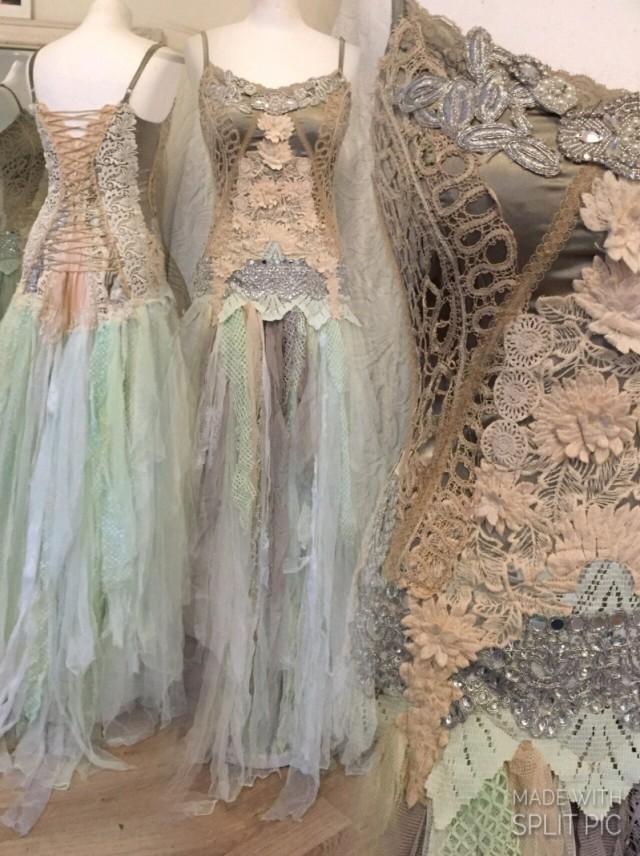 Wedding Dress Silver Goddessethereal Wedding Dressbridal