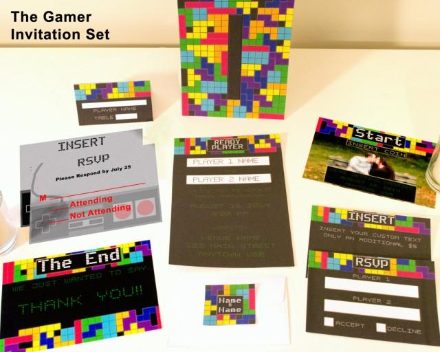 The R Video Themed Customized Wedding Invitation