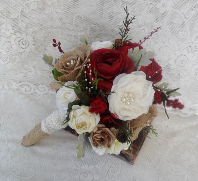 Bridal Bouquet Rustic Wedding Bouquet Christmas Bouquet