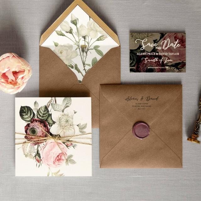 English Garden Luxury Folding Wedding