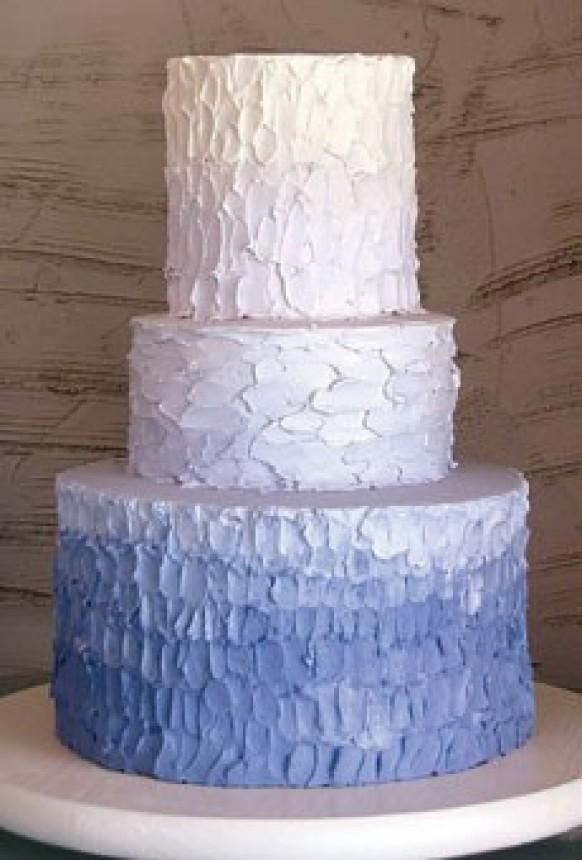 Textured Ombre Wedding Cake Wedding Cake Design