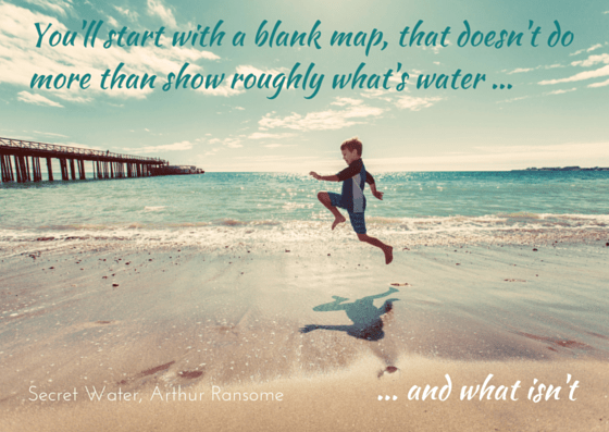 Arthur Ransome Secret Water quotation on photo by Wil Stewart, unsplash.com