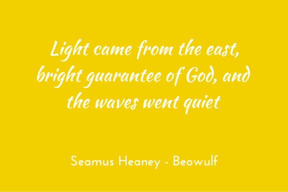 Heaney Beowulf morning light
