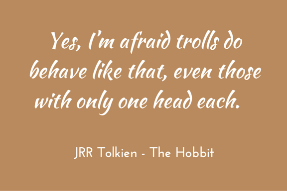 Tolkien Hobbit quotation on trolls