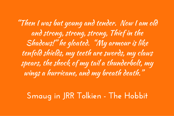 Hobbit Tolkien Smaug the Dragon to the Hobbit